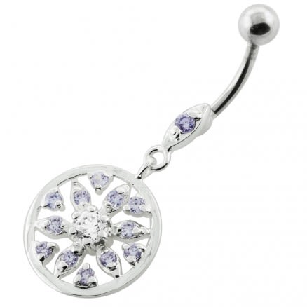 Jeweled Flower navel piercing