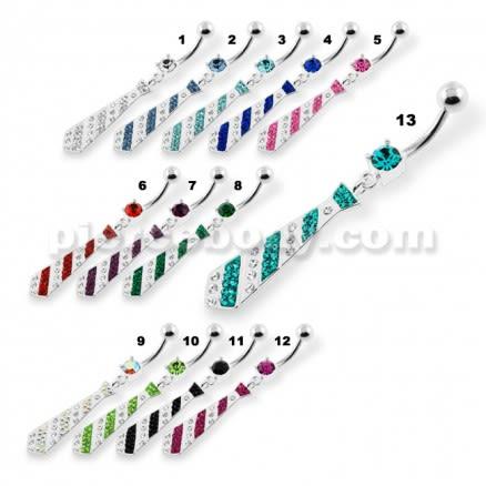 Multi Jeweled Tie Navel Belly Piercing
