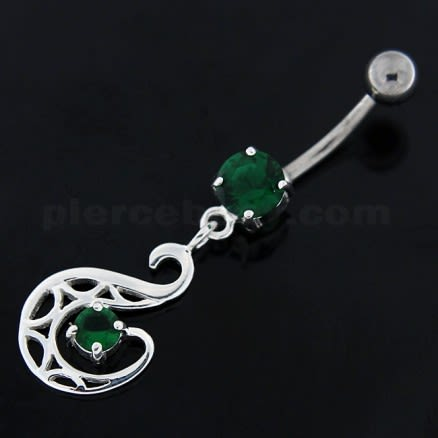 Dangling Fashion Swan Navel Belly button Ring