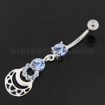 Jeweled Lady Hand bag Navel Belly Button Ring