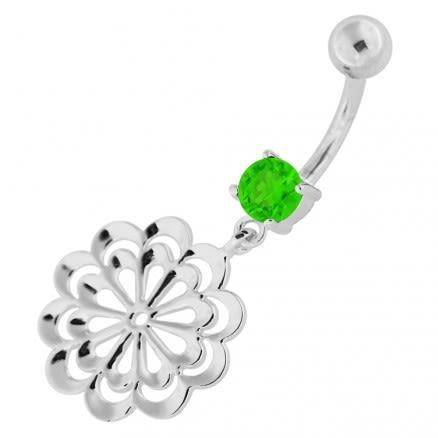 Fancy Single Stone Jeweled Dangling Belly Ring