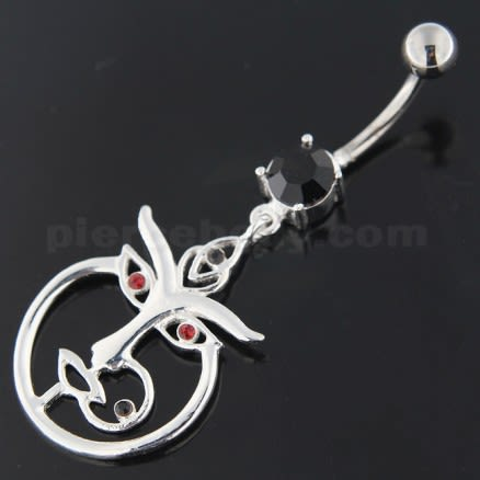 Nose and Lip Pierced women Silver Belly Button Ring