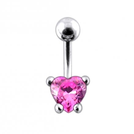 Jewelled Heart Navel Ring