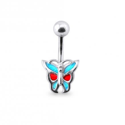 Fancy Rexine Silver Belly Ring