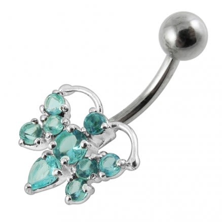 Jeweled Bee Non-Moving Belly Ring