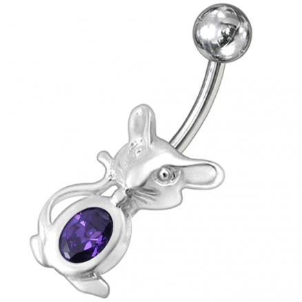 Jeweled Rat Non-Moving Belly Ring