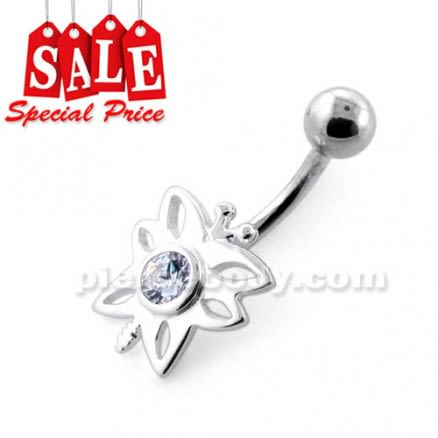 Jeweled Butterfly Navel Belly Ring