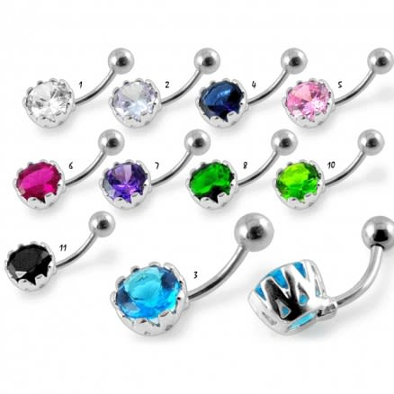 Fancy Jeweled Round Navel Ring