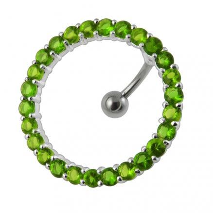 Circular Jeweled Navel Belly bar