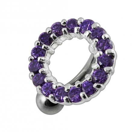 Jeweled Circular Belly Ring