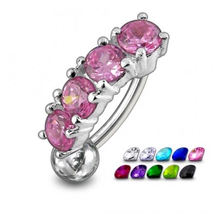 Fancy Jewelled Non-Moving Reverse Belly Ring