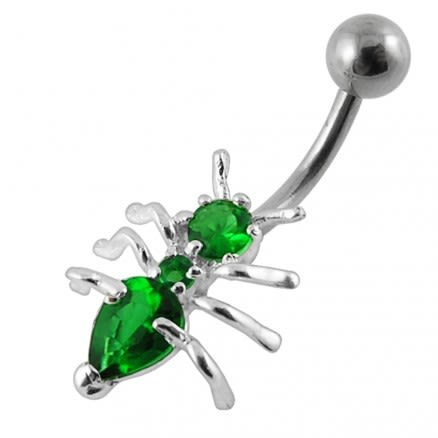 Jeweled Ant Navel Belly Bar
