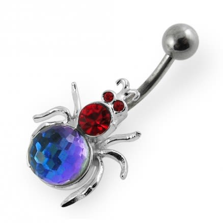 Jeweled Spider Navel Bar