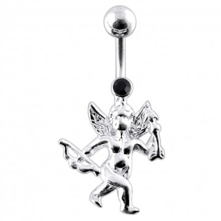Jeweled Cupid Belly Ring