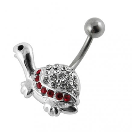 Tiny Turtle Non-Moving Belly Ring