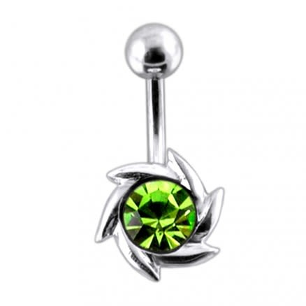 Tribal Mini Sun Non-Moving  Belly Ring