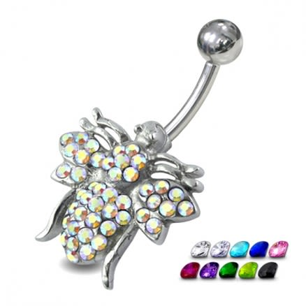 Jeweled Fly Belly Ring