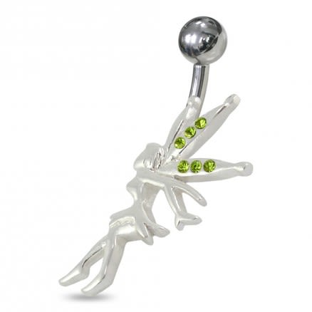 Jeweled Angel Navel Belly Ring