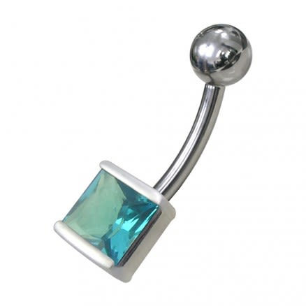 14G Fancy Jewelled Non-Moving Navel Ring