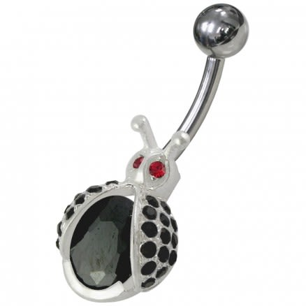 Fancy Honey bee Shaped Jeweled Non-Moving Belly Ring
