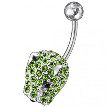 Jeweled Fancy Non-Moving Curved Belly Ring
