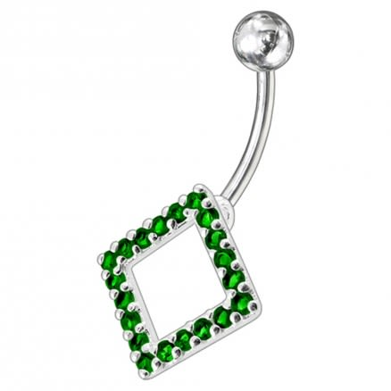 Fancy Jeweled Non-Moving Navel Body Jewelry Ring