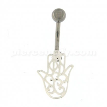 Hamsa Hand Navel Belly button Piercing