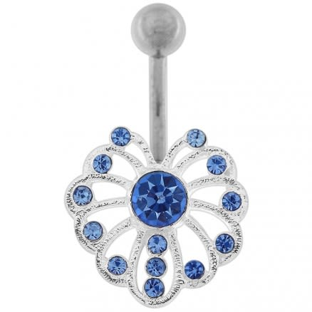 Multi Jeweled Fire Works Navel Belly button Piercing