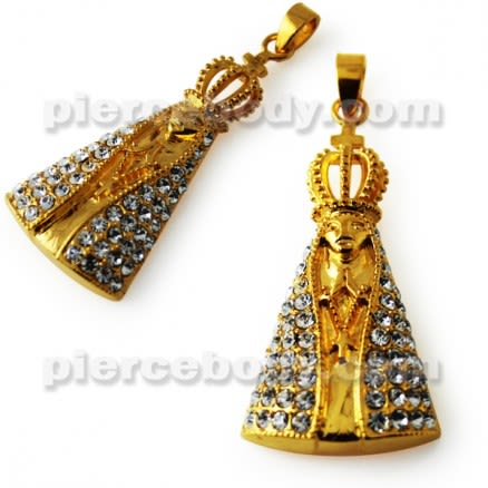 Jeweled Virgin Mary Pendant