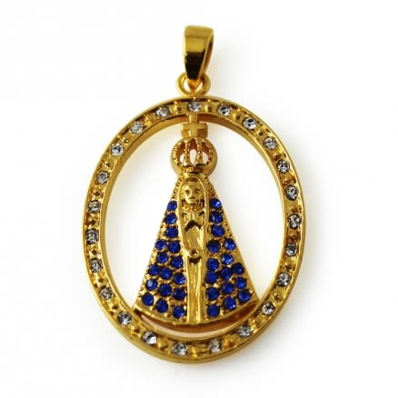 Gold Platted Virgin Mary Pendant