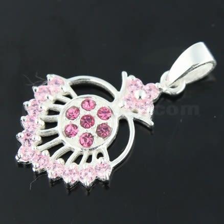925 Sterling Silver Fancy Jeweled Pendant