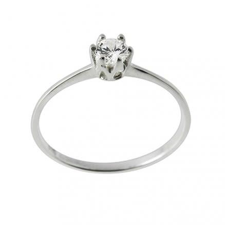 Jeweled Fashion Silver Slik Ring