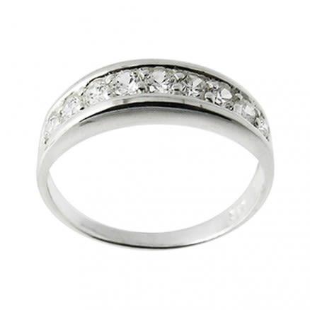 Jeweled Fashion Silver Ring Body Jewelry PBRJ023