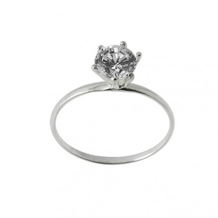 Jeweled Fashionable engagement Silver Finger Ring