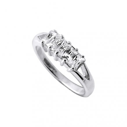 925 Sterling Silver CZ Jeweled Fashion Silver Ring Body Jewelry