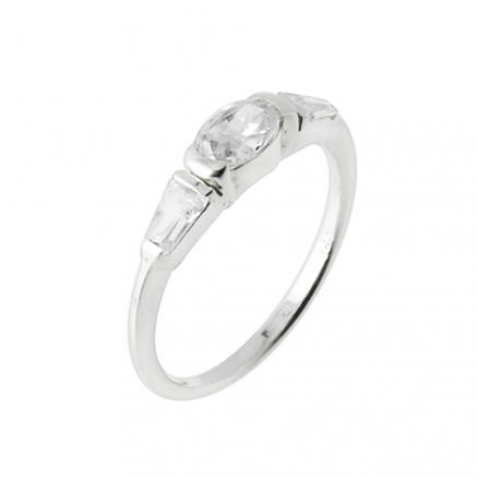 Jeweled Fashion Silver Finger Stylish Band