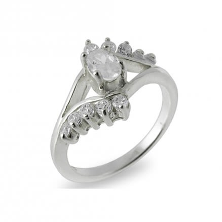 GT-DESIGN 925 Sterling Silver CZ Zircon Crystal Fashion Cute Female Finger Ring