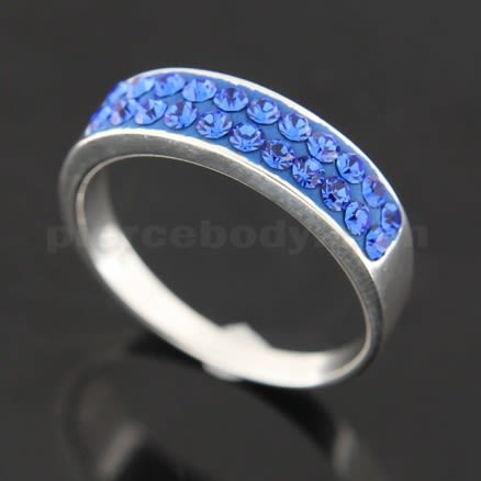 Fashion Dazzling Multi Crystals Finger Ring