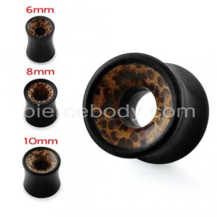 Organic Iron and Palm Wood Hollow Ear Plug Gauges