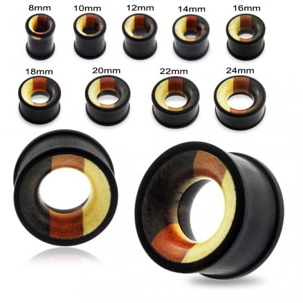Organic Mixed Multi Wood Ear Plug Gauges