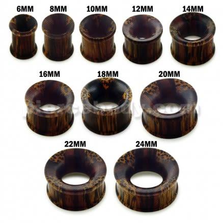 Organic Iron and Palm wood Ear Plug Gauges