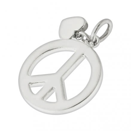Peace Sign Stainless Steel Casting Pendant