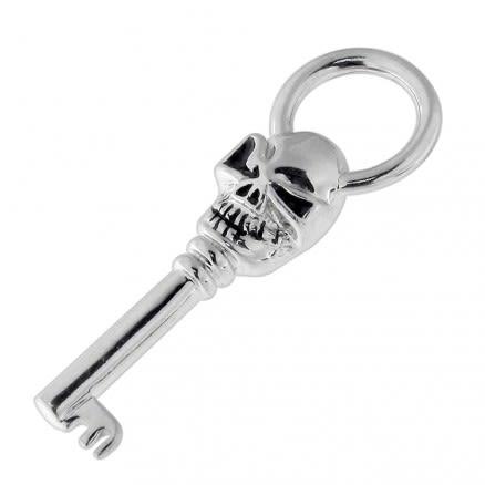 Skeleton Key Stainless Steel Casting Pendant