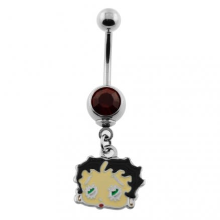 Dangling Betty Boop Navel Belly Ring