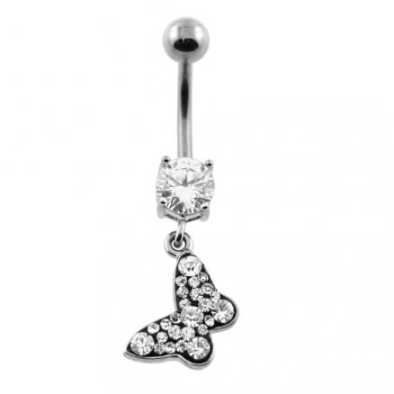 Multi Jeweled Dangling Belly Button Piercing