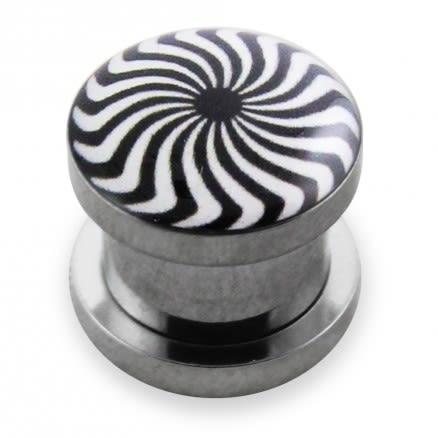 Eye Swir Logo With SS Screw Fit Ear Tunnel