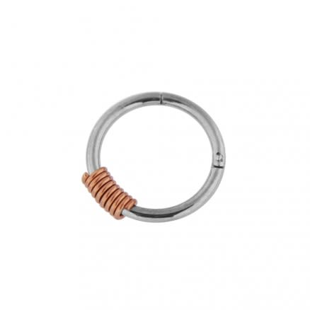 18G-1mm Surgical Steel Hinged Segment Rings with Spring