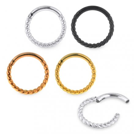 Twisted Rope Hinged Segment Ring