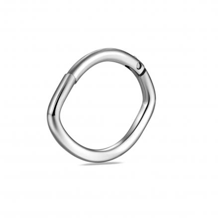 Surgical Steel Oval Shape Classic Hinged Segment Ring