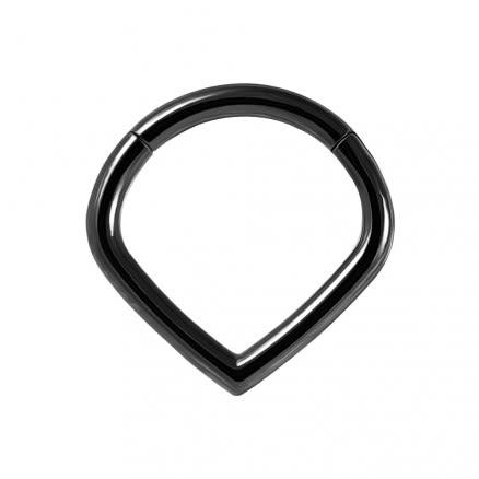 Triangle Septum Ring V Shape Classic Hinged Segment Ring
